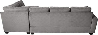 Homelegance Emilio 3-Piece Reversible Sectional with Ottoman - Taupe