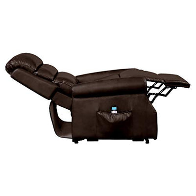 Homelegance Power Lift Recliner with Massage & Heat, Brown