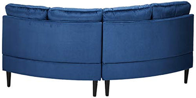 Julian Nora Glam Velvet Modular 2 Seater Sectional, Navy Blue