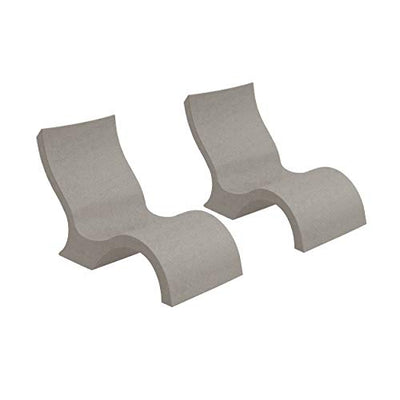 Ledge Lounger Signature in-Pool Low Back Chair for 0-9 inch Water Depths (Set of 2) (Sandstone)