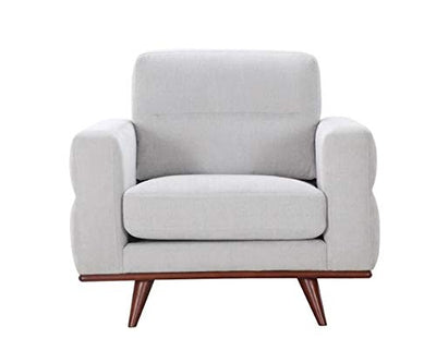 "HomeRoots 40"" X 34"" X 36"" Light Taupe Polyester Chair"