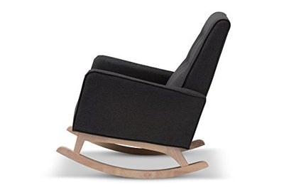 Baxton Studio Martine Rocking chair Dark Grey