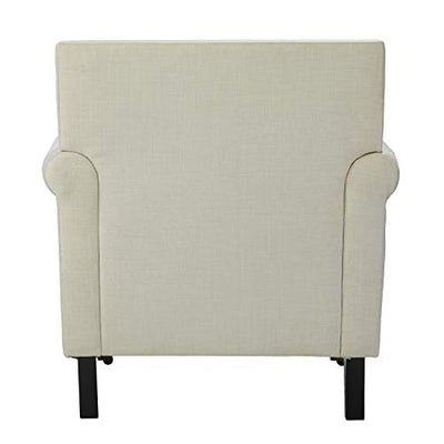 SEI Furniture Brenthouse Upholstered Armchair, Ivory