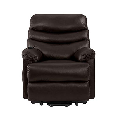 Domesis Olathe - Renu Leather Power Recline and Lift Chair, Coffee Brown