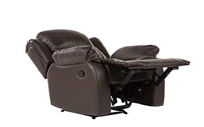 Divano Roma Furniture Bonded Leather Overstuffed Recliner Chair Colors Brown, Black