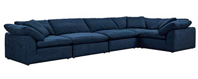 Sunset Trading Cloud Puff Sectional, Configurable, Navy Blue
