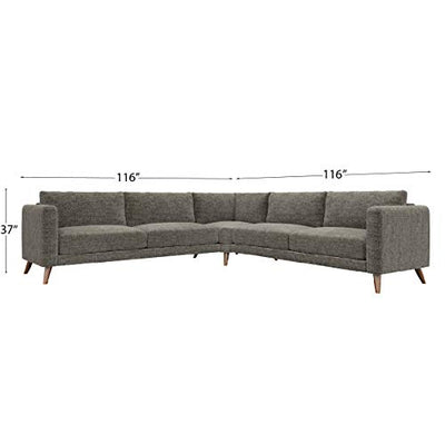 Sofab Tilly Modern Large Sectional, Tobacco Road