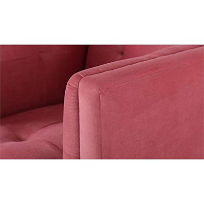 Brika Home Accent Chair in Garnet Rose