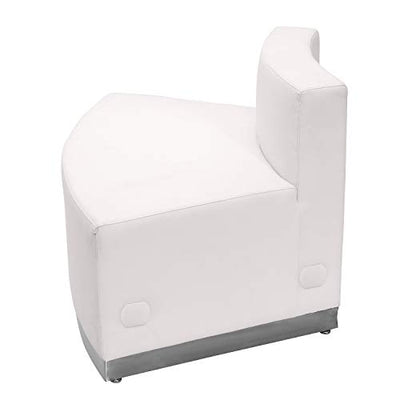 Flash Furniture Convex Leather Chair, Melrose White