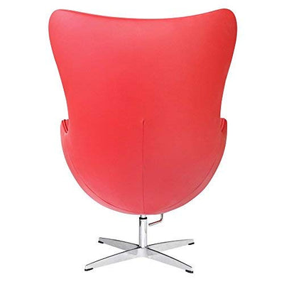 Fine Mod Imports Inner Chair Leather, Red