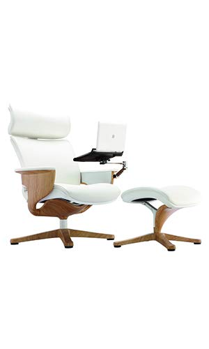 "HomeRoots 32.5"" x 32.3"" x 40.75"" White Leather Chair"