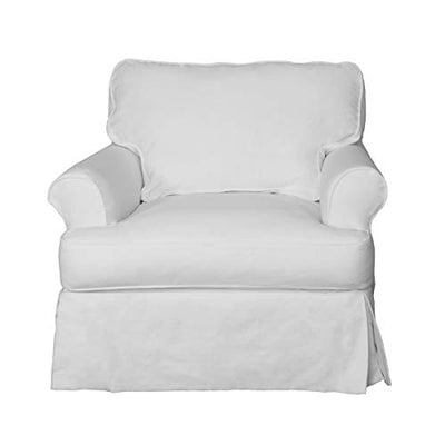 Sunset Trading Horizon Slipcovered Chair, White
