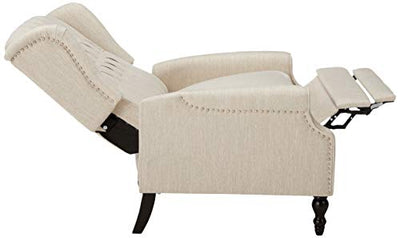 Christopher Knight Home Salome Push Back Recliner, Beige, Dark Brown