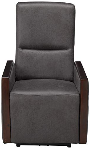 Christopher Knight Home Joyy Power Recliner, Slate + Brown