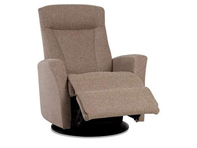 IMG Prince Manual Swing Glider Relaxer Recliner in Standard/Medium in Sicilia Sand Fabric