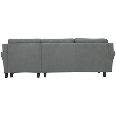 Hawthorne Collections Sectional with Rolled Arms in Gray