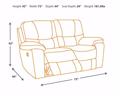Signature Design by Ashley - Hogan Contemporary Microfiber Reclining Loveseat - Pull Tab Reclining - Brown