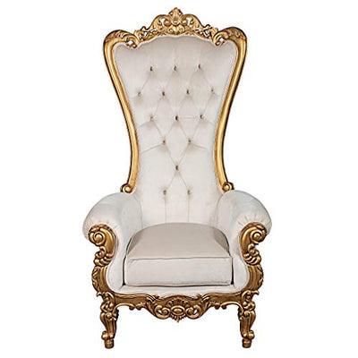 Design Toscano Contessa Stylish Baroque Throne Chair, 70.5 Inch, gold