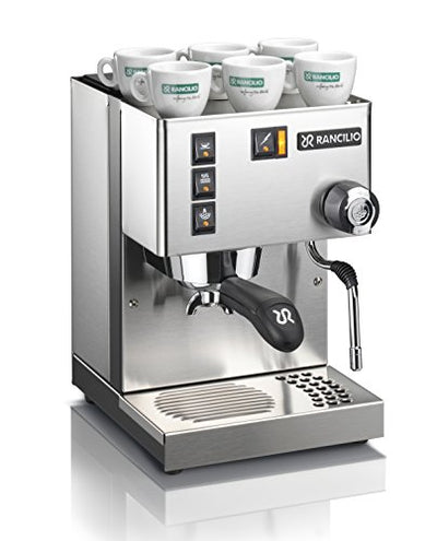 Rancilio Silvia Espresso Machine with Iron Frame and Stainless Steel Side Panels, 11.4 by 13.4-Inch