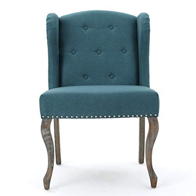 Christopher Knight Home Niclas Fabric Chairs, 2-Pcs Set, Dark Teal
