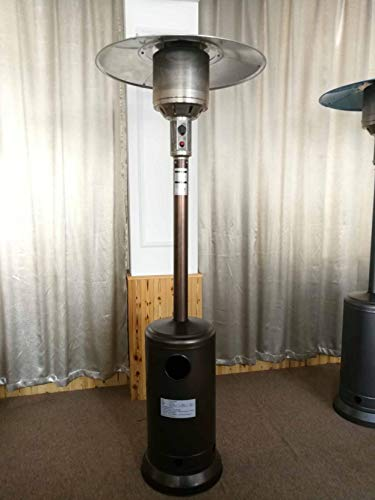 Natural gas outdoor heater Propane terrace heater with wheels and table