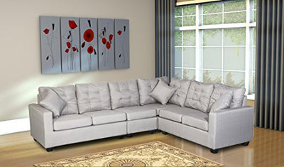 Smith & Oliver Sectional, Large, Grey