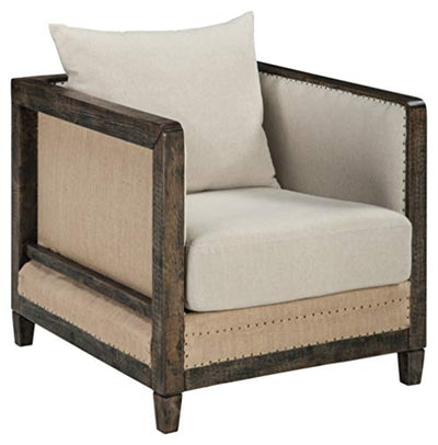 Signature Design by Ashley - Copeland Upholstered Casual Accent Chair - Light Tan