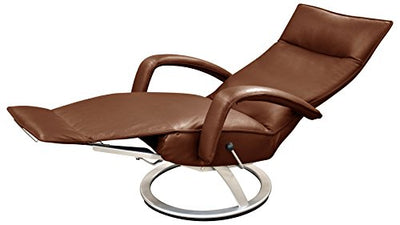Gaga Recliner Chair Saddle Leather by Lafer Recliner Chairs