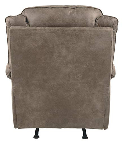 Signature Design by Ashley - Rotation Casual Upholstered Rocker Recliner - Pull Tab Reclining - Gray