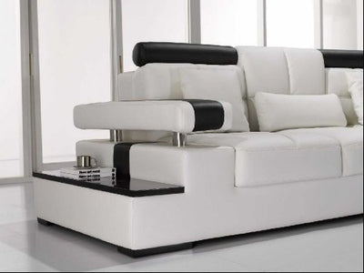 Vig Furniture T117 Modern White Leather Sectional Sofa