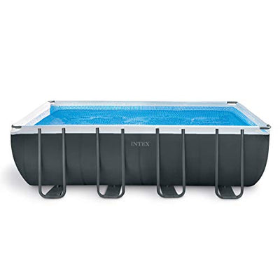 Intex 18ft X 9ft X 52in Ultra XTR Rectangular Pool Set with Sand Filter Pump, Ladder, Ground Cloth & Pool Cover