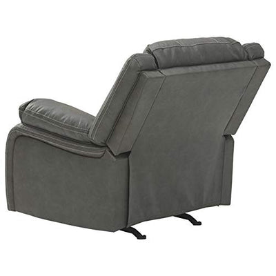 Signature Design by Ashley Calderwell Rocker Recliner in Gray