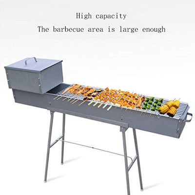 NYKK Charcoal Grill Zinc Iron Alloy Outdoor Grill Commercial Large Charcoal Grill Outdoor Thickened Barbecue Shelf Barbecue Grill Racks