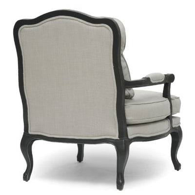 "Baxton Studio Antoinette Classic Antiqued French Accent Chair, 39.75"" x 33.75"" x 31"", Beige"