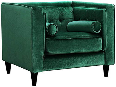 Meridian Furniture Taylor Green Velvet Chair Green