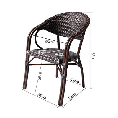 BUYT Villa Garden Furniture Sets Patio Furniture Conservatory Furniture Table Sets Patio Rattan Dining Table Set Wicker Weave Coffee Table Patio Conversation Outdoor (4 Piece Set Table Chair)