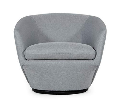 Limari Home Tancrede Collection Modern Velvet Fabric Upholstered Swivel Accent Chair, Dark Gray