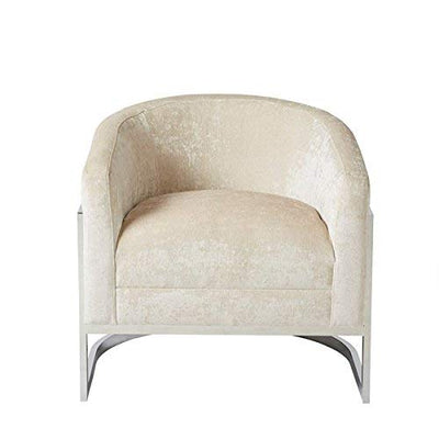Madison Park Haven Accent Chair, See Below, Cream/Chrome