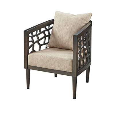 "INK+IVY Crackle Accent Chair, 27""W x 29""D x 32.5""H, Tan"