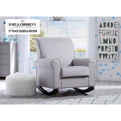 Delta Children Rowen Nursery Rocking Chair, Dove Grey