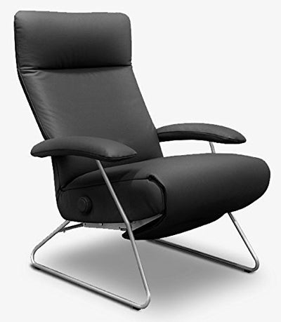 Lafer Recliners Demi Recliner Chair Anthracite Leather Chairs