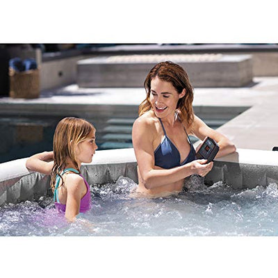 Intex 28439E Greywood Deluxe 4 Person Inflatable Hot Tub Bubble Jet Spa Kit