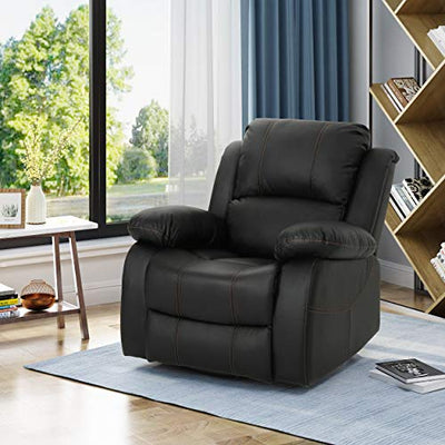 Christopher Knight Home Lilith Gliding Swivel Recliner, Black