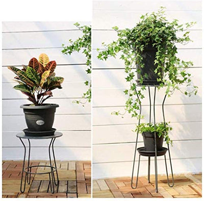 LSNLNN Flower Stands,Metal Flower Stand, Multi-Function Rust-Proof and Durable Display Stand Living Room Interior Balcony Home Table Decoration,Two-Piece Set,Two-Piece Set