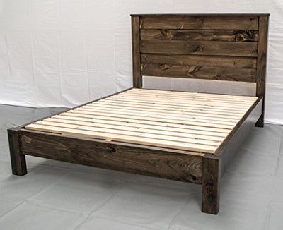 Rustic Farmhouse Platform Bed w Headboard - King/Traditional Platform Frame/Wood Platform Reclaimed Bed/Modern/Urban/Cottage Platform Bed