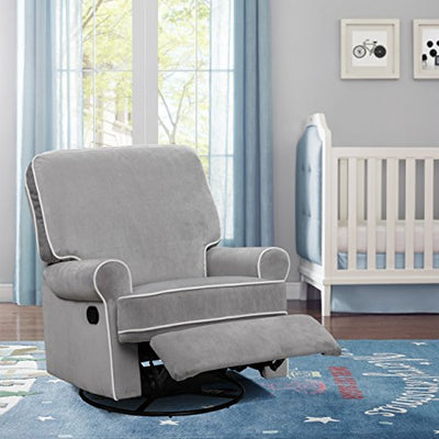 "Pulaski Home Comfort Birch Hill Swivel Nursery Glider Recliner, 36"" x 37.5"" x 40"", Grey"