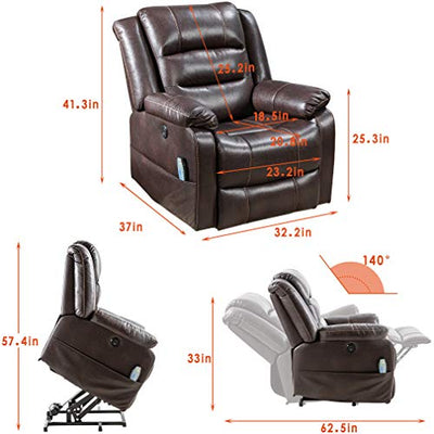 Lift Chair for Elderly Massage Chair Lift Chair Power Recliner Recliner Clearance Electric Recliner Wall Hugger Recliner Chair Living Room Chair with Remote Control