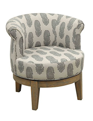 Treasure Trove Accents Swivel Accent Chair, Distressed