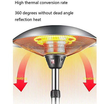 MTTLS 1500W Electric Patio Heater, Outdoor Weatherproof Hanging Heater, Halogen Fire Tube Heating, for Balcony Courtyard Ceiling