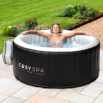 COSYSPA Inflatable Hot Tub Spa – Outdoor Bubble Jacuzzi | 2-6 Person Capacity – Quick Heating Hot Tub | Inflatable Hot Tub | Outdoor Inflatable Hot Tub Spa (Hot Tub Only - 4 Person)